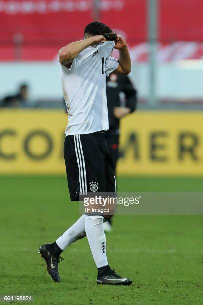 Nadiem Amiri of Germany looks dejected after the International Friendly match between Germany U21 and Portugal U21 at GaziStadion on March 28 2017 in...