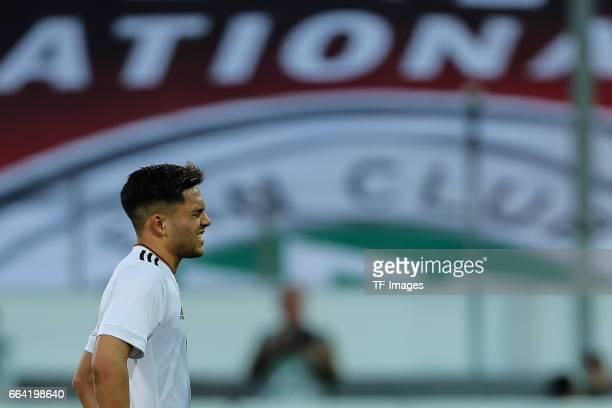 Nadiem Amiri of Germany looks on during the International Friendly match between Germany U21 and Portugal U21 at GaziStadion on March 28 2017 in...
