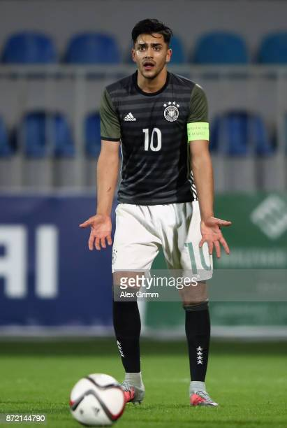 Nadiem Amiri of Germany reacts during the UEFA Under21 Euro 2019 Qualifier match between Azerbaijan U21 and Germany U21 at Dalga Arena on November 9...