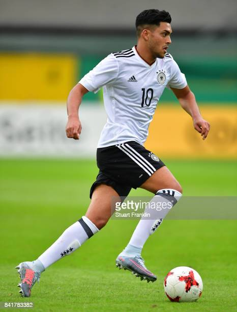 Nadiem Amiri of Germany U21 in action during the International friendly match between Germany U21 and Hungary U21 at the Benteler Arena on September...
