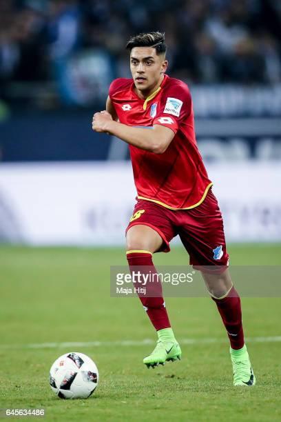Nadiem Amiri of Hoffenheim controls the ball during the Bundesliga match between FC Schalke 04 and TSG 1899 Hoffenheim at VeltinsArena on February 26...