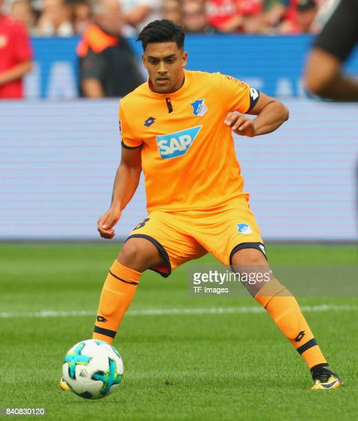 Nadiem Amiri of Hoffenheim controls the ball during the Bundesliga match between Bayer 04 Leverkusen and TSG 1899 Hoffenheim at BayArena on August 26...