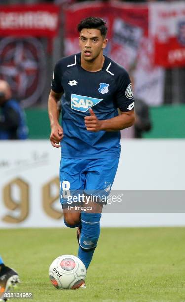 Nadiem Amiri of Hoffenheim controls the ball during the DFB Cup first round match between RotWeiss Erfurt and TSG 1899 Hoffenheim at...