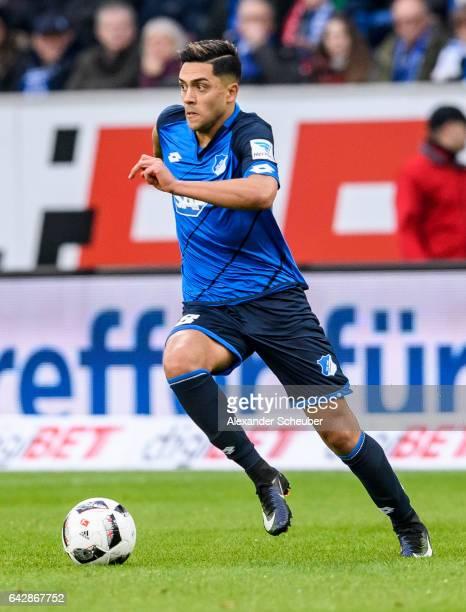 Nadiem Amiri of Hoffenheim in action during the Bundesliga match between TSG 1899 Hoffenheim and SV Darmstadt 98 at Wirsol RheinNeckarArena on...