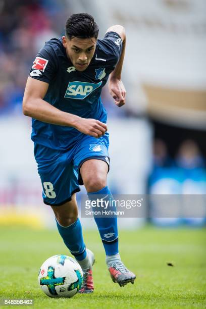 Nadiem Amiri of Hoffenheim in action during the Bundesliga match between TSG 1899 Hoffenheim and Hertha BSC at Wirsol RheinNeckarArena on September...