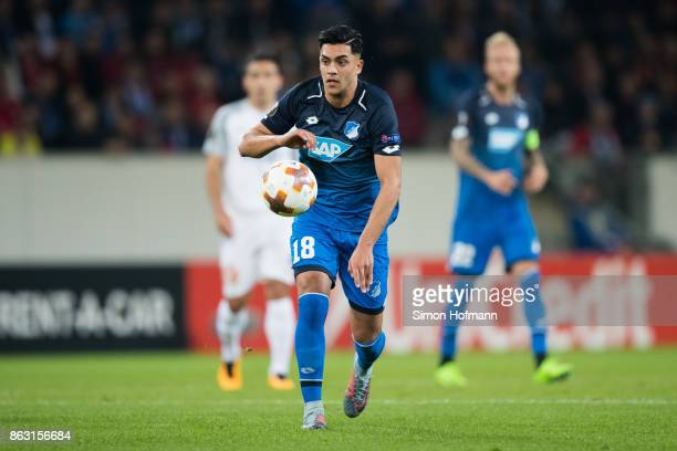 Nadiem Amiri of Hoffenheim in action during the UEFA Europa League group C match between 1899 Hoffenheim and Istanbul Basaksehir FK at Wirsol...
