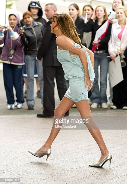 Nadine Coyle during 2004 Capital FM Awards Arrivals at Royal Lancaster Hotel in London Great Britain