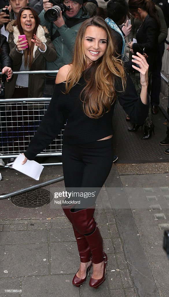 Nadine Coyle from Girls Aloud seen at BBC Radio One on November 12, 2012 in London, England.