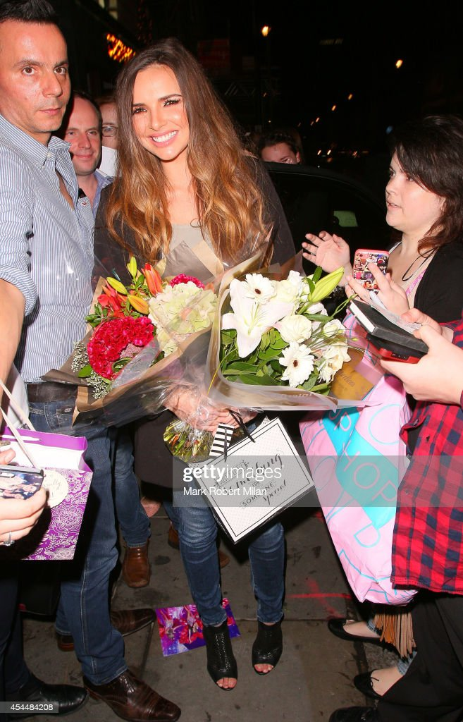 <a gi-track='captionPersonalityLinkClicked' href=/galleries/search?phrase=Nadine+Coyle&family=editorial&specificpeople=201778 ng-click='$event.stopPropagation()'>Nadine Coyle</a> leaving the Palladium theatre after the Lord of the Dance: Dangerous Games opening night on September 1, 2014 in London, England.