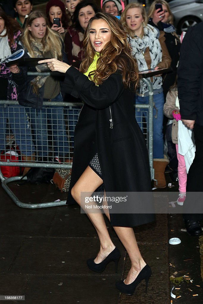 Nadine Coyle seen at BBC Maida Vale Studios on December 14, 2012 in London, England.