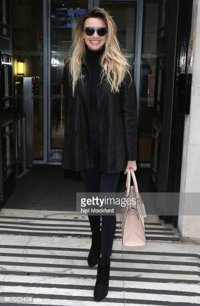 Nadine Coyle seen at BBC Radio 2 on October 3 2017 in London England