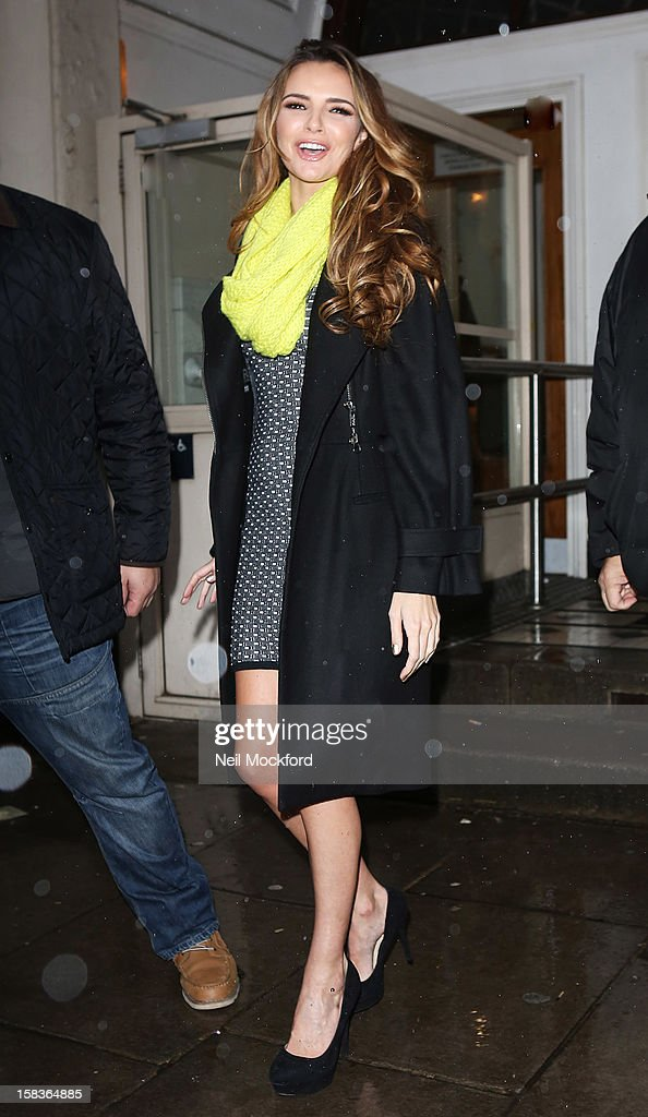 Nadine Coyle seen at the BBC Maida Vale Studios on December 14, 2012 in London, England.