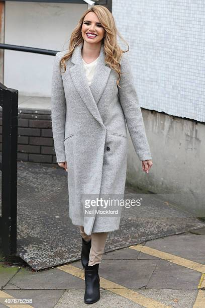 Nadine Coyle seen leaving the ITV Studios after performing on Lorraine on November 18 2015 in London England
