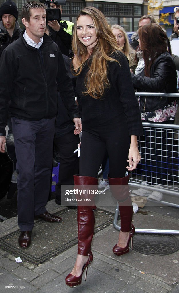 Nadine Coyle sighting at BBC radio one on November 12, 2012 in London, England.