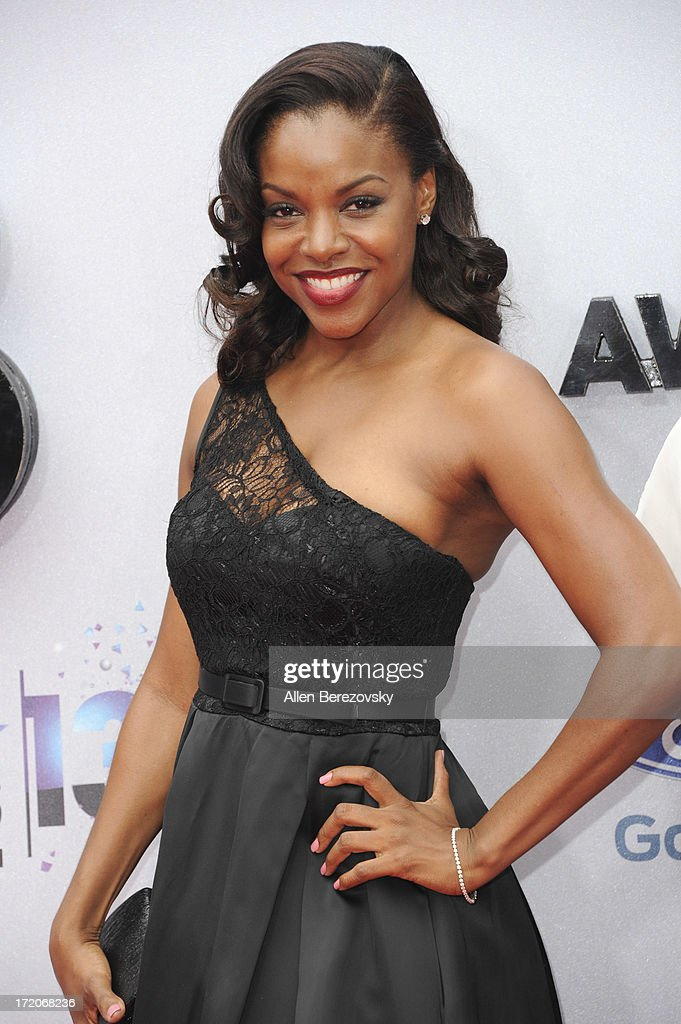 Nadine Ellis attends 2013 BET Awards - Arrivals at Nokia Plaza L.A. LIVE on June 30, 2013 in Los Angeles, California.