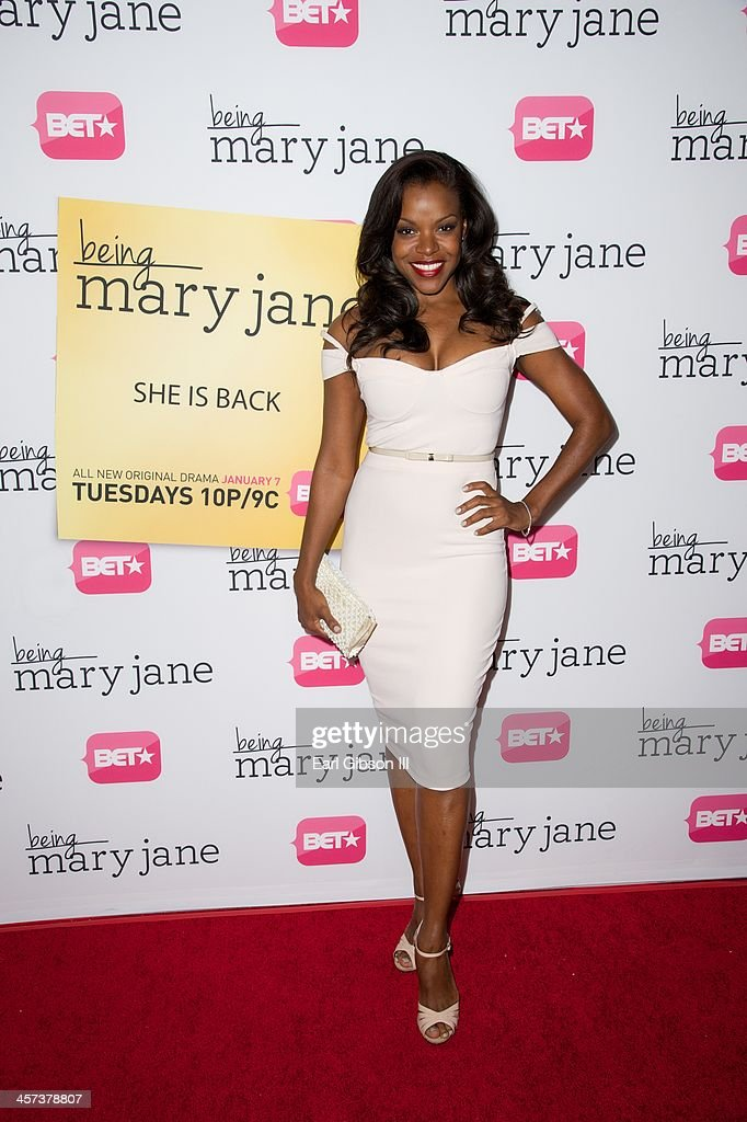 Nadine Ellis attends BET's New Series 'Being Mary Jane' Los Angeles Premiere on December 16, 2013 in Los Angeles, California.