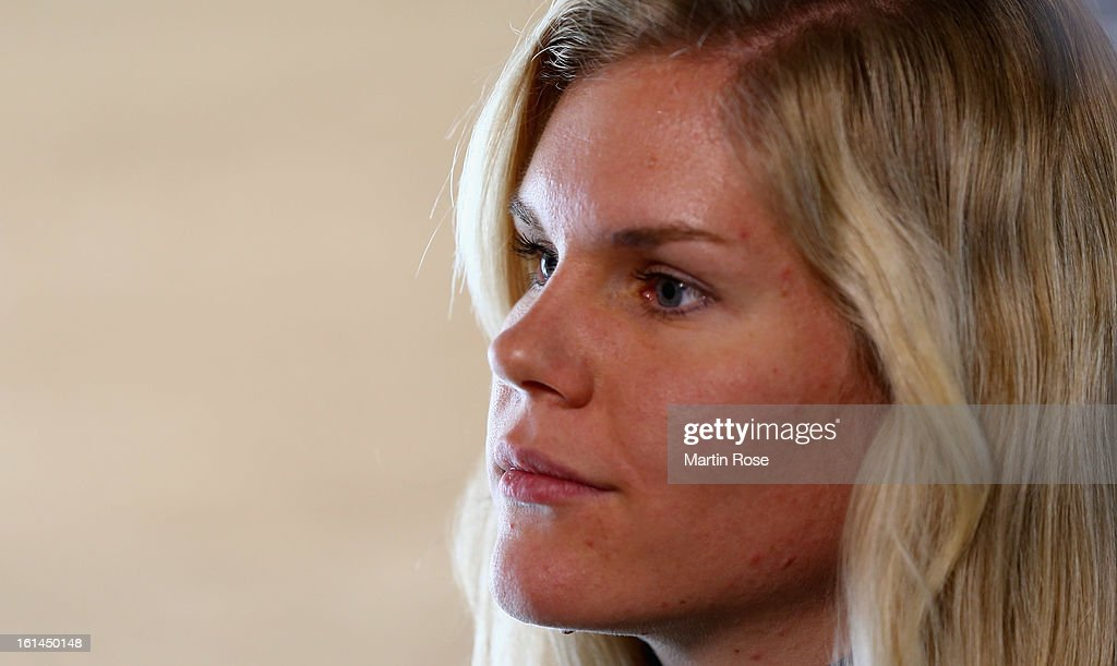 Nadine Horchler attends the german media day at Lisensky Dvur Hotel on February 11, 2013 in Nove Mesto na Morave, Czech Republic.
