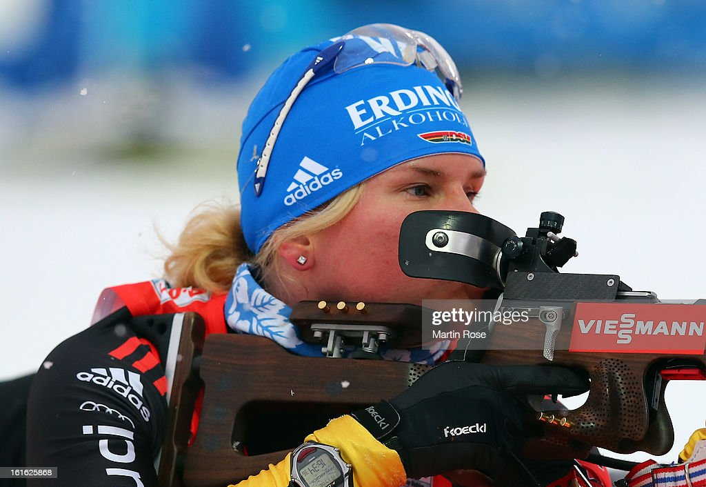 Nadine Horchler of Germany competes at the zeoring in the Women's 15km Individual during the IBU Biathlon World Championships at Vysocina Arena on February 13, 2013 in Nove Mesto na Morave, Czech Republic.