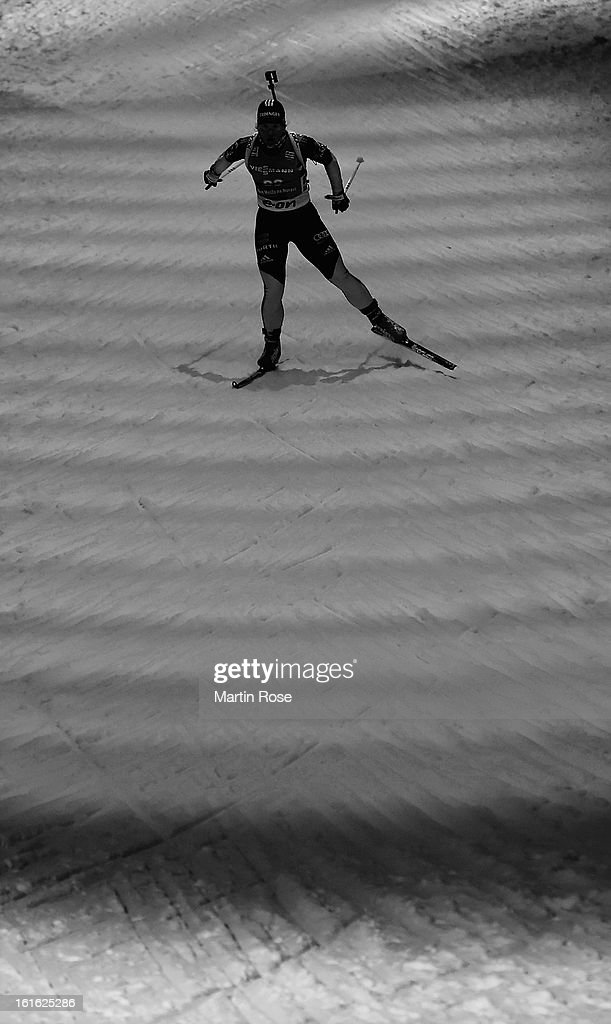 Nadine Horchler of Germany competes in the Women's 15km Individual during the IBU Biathlon World Championships at Vysocina Arena on February 13, 2013 in Nove Mesto na Morave, Czech Republic.