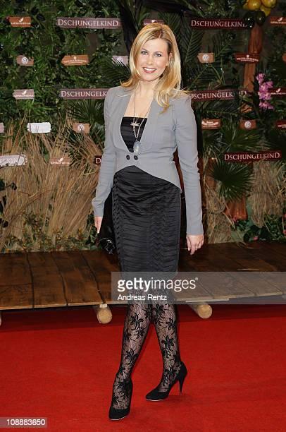 Nadine Krueger attends the 'Das Dschungelkind' Premiere at CineStar on February 7 2011 in Berlin Germany