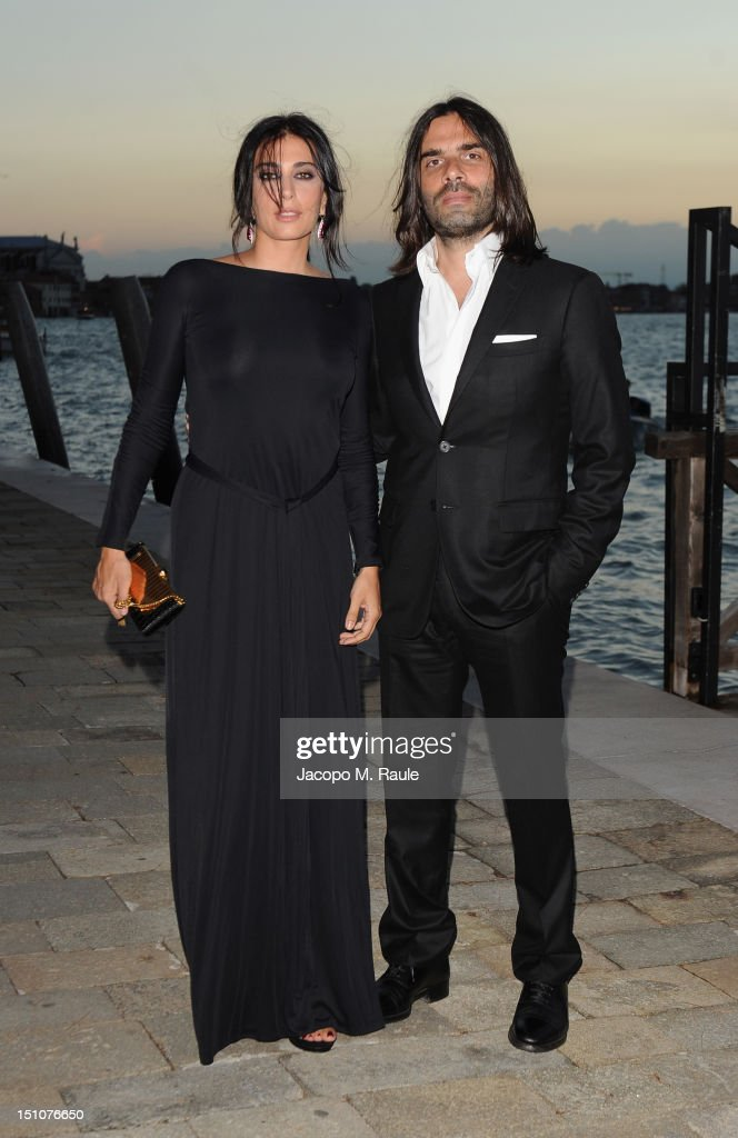 <a gi-track='captionPersonalityLinkClicked' href=/galleries/search?phrase=Nadine+Labaki&family=editorial&specificpeople=2128714 ng-click='$event.stopPropagation()'>Nadine Labaki</a> and Khaled Mouzanar attend the Gucci Award for Women in Cinema at The 69th Venice International Film Festival at Hotel Cipriani on August 31, 2012 in Venice, Italy.
