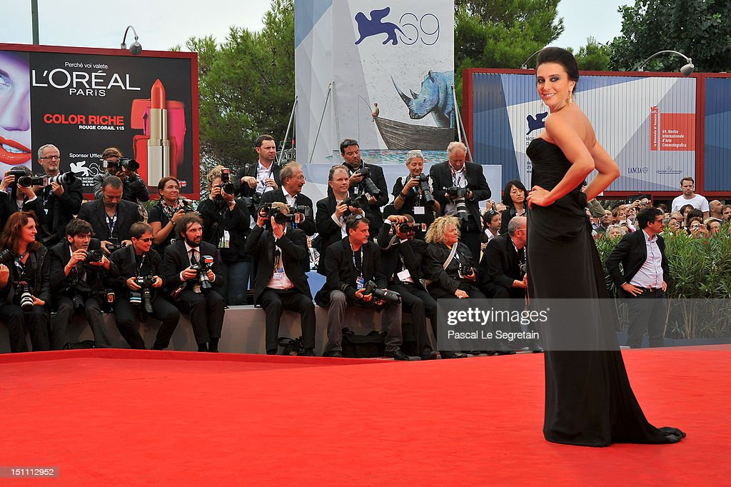 Nadine Labaki attends 'The Master' Premiere during The 69th Venice Film Festival at the Palazzo del Cinema on September 1, 2012 in Venice, Italy.