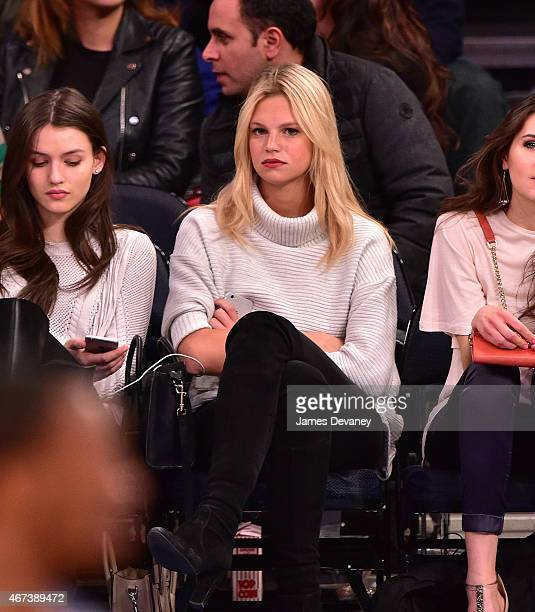 Nadine Leopold attends Memphis Grizzlies vs New York Knicks game at Madison Square Garden on March 23 2015 in New York City