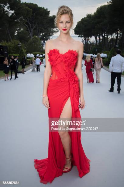Nadine Leopold attends the amfAR Gala Cannes 2017 at Hotel du CapEdenRoc on May 25 2017 in Cap d'Antibes France