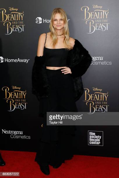 Nadine Leopold attends the 'Beauty and the Beast' New York screening at Alice Tully Hall Lincoln Center on March 13 2017 in New York City