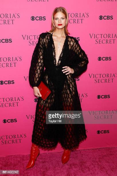 Nadine Leopold attends the Victoria's Secret Viewing Party Pink Carpet celebrating the 2017 Victoria's Secret Fashion Show in Shanghai at Spring...