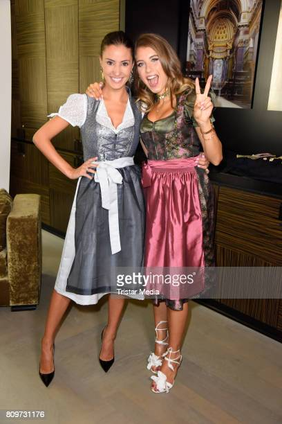 Nadine Menz and Cathy Hummels during the Cathy Hummels Hosts Angermaier Event on July 6 2017 in Berlin Germany
