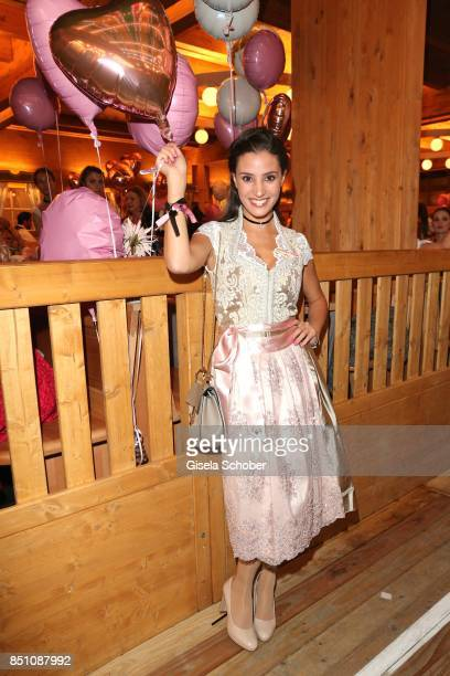 Nadine Menz at the 'Madlwiesn' event during the Oktoberfest at Theresienwiese on September 21 2017 in Munich Germany