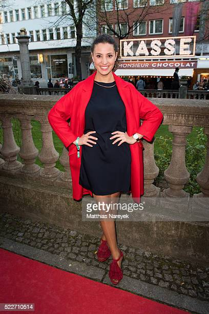 Nadine Menz attends the Berlin photo call of the movie 'Monsieur Chocolat' on April 20 2016 in Berlin Germany