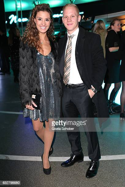 Nadine Menz GZSZ and her boyfriend Sascha Bigalke during the 'A New York Minute' party hosted by Tiffany Co at BMW World on January 26 2017 in Munich...