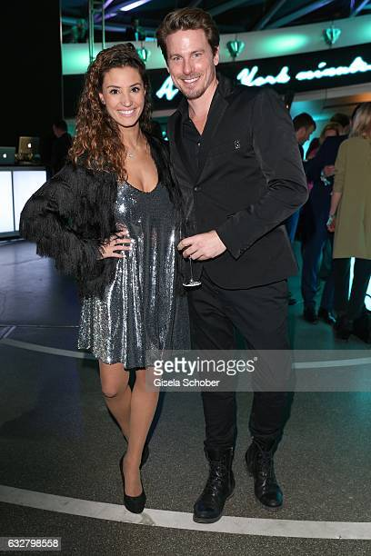 Nadine Menz GZSZ and Stefan Mirbeth during the 'A New York Minute' party hosted by Tiffany Co at BMW World on January 26 2017 in Munich Germany