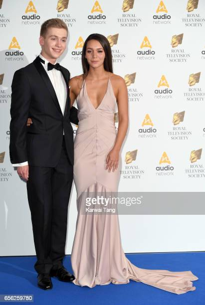 Nadine Mulkerrin and Richard Linnell attend the Royal Television Society Programme Awards at the Grosvenor House on March 21 2017 in London United...
