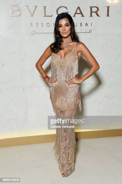 Nadine Nassib Njeim attends Grand Opening Bulgari Dubai Resort on December 5 2017 in Dubai United Arab Emirates
