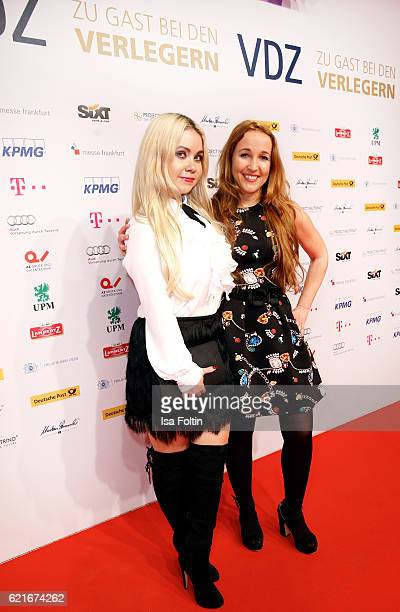 Nadine Trompka and Claudia Campus during the VDZ Publishers' Night 2016 at Deutsche Telekom's representative office on November 7 2016 in Berlin...