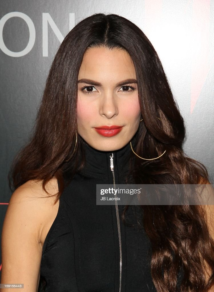 Nadine Velazquez attends the W Magazine & Guess Host 30 Years of Fashion & Film Next Generation of Style Party at Laurel Hardware on January 8, 2013 in West Hollywood, California.