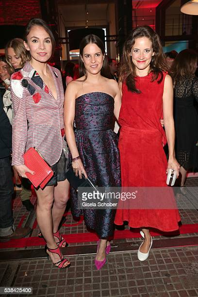 Nadine Warmuth and Birthe Wolte and Anja Knauer during the New Faces Award Film 2016 at ewerk on May 26 2016 in Berlin Germany