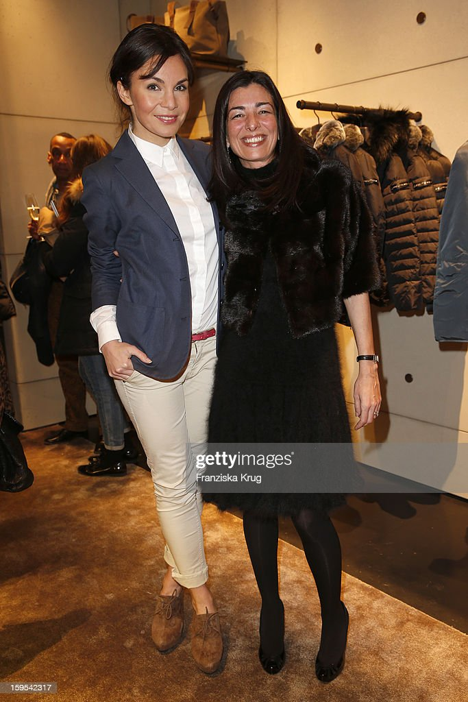 Nadine Warmuth and Francesca Lusini attend the 'Peuterey Cocktail Party' at Peuterey flagship store Kurfuerstendamm on January 15, 2013 in Berlin, Germany.