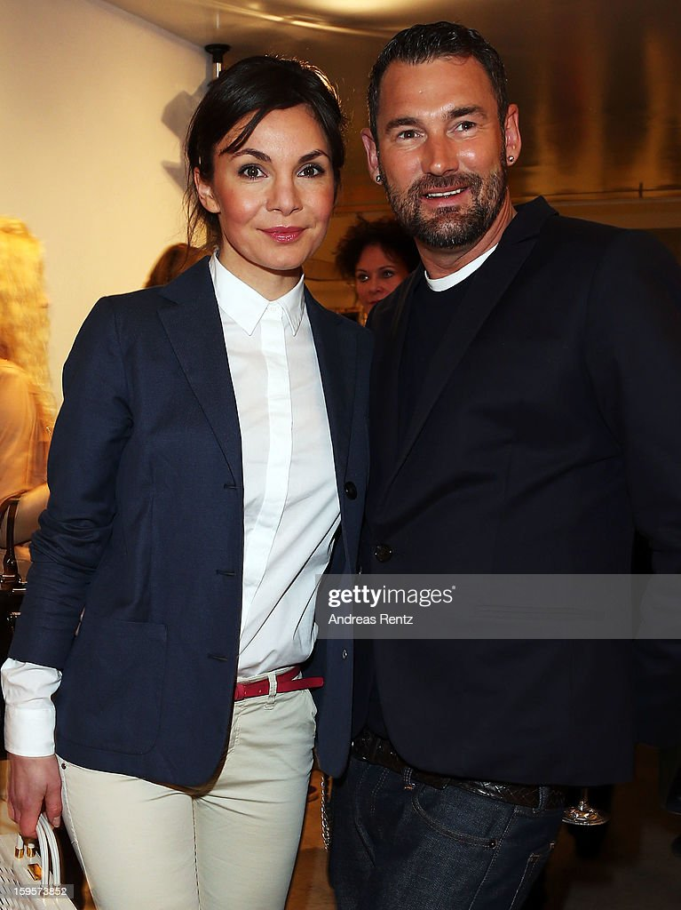 Nadine Warmuth and Michael Michalsky attend Flair Magazine Party at Pariser Platz 4 on January 15, 2013 in Berlin, Germany.