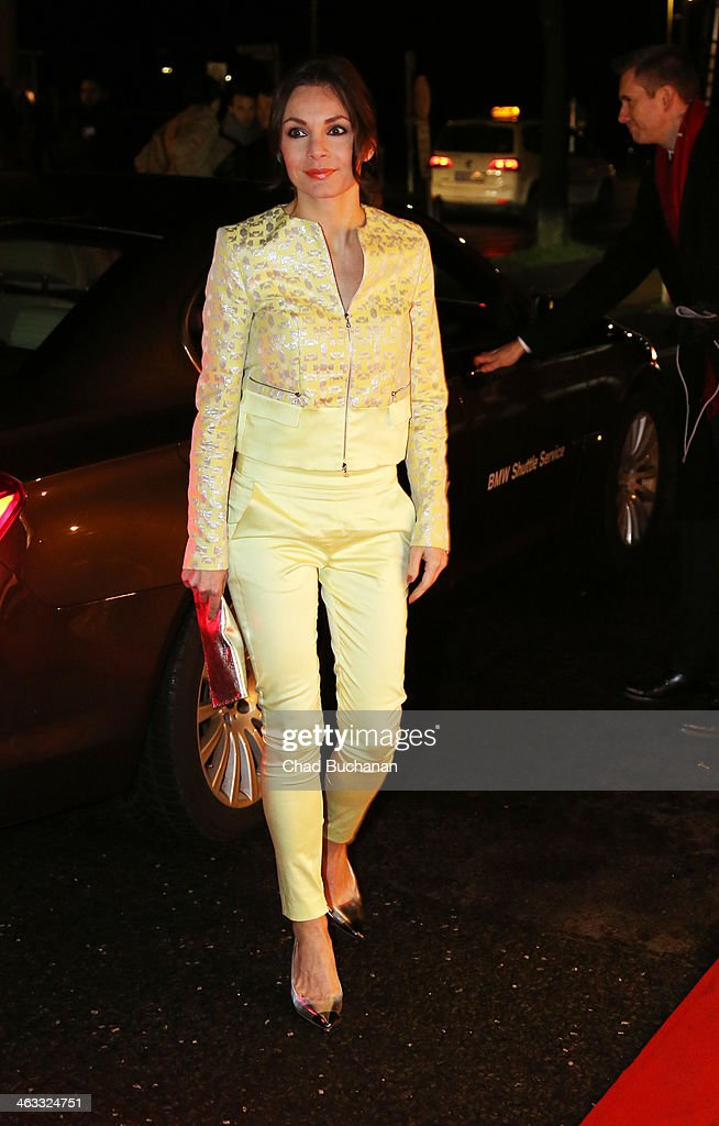 <a gi-track='captionPersonalityLinkClicked' href=/galleries/search?phrase=Nadine+Warmuth&family=editorial&specificpeople=628371 ng-click='$event.stopPropagation()'>Nadine Warmuth</a> arrives for the Michalsky Style Night during Mercedes-Benz Fashion Week Autumn/Winter 2014/15 at Tempodrom on January 17, 2014 in Berlin, Germany.