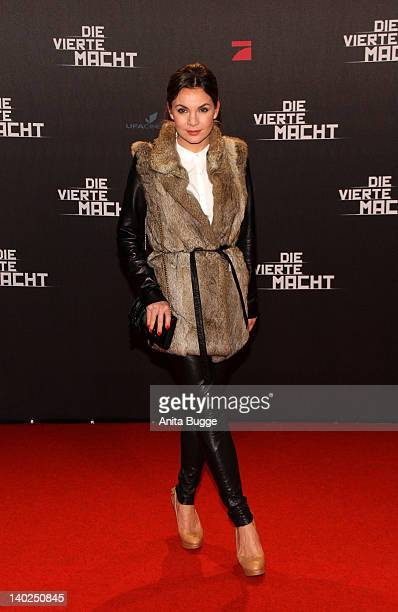 Nadine Warmuth attends 'Die Vierte Macht' World Premiere at the CineStar Sony Center on March 1 2012 in Berlin Germany