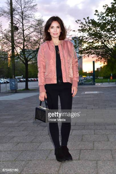 Nadine Warmuth attends the Berlin Filmfestival Opening 'Achtung Berlin' With The Movie Beat Beat Heart on April 19 2017 in Berlin Germany