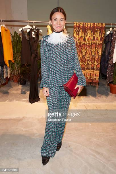 Nadine Warmuth attends the Dorothee Schumacher Pop Up Store opening on August 31 2017 in Hamburg Germany