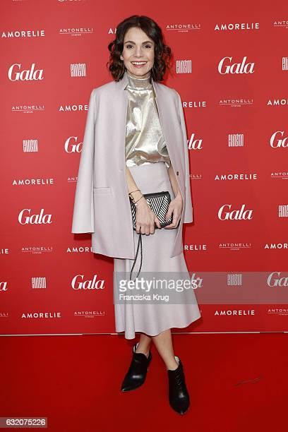 Nadine Warmuth attends the 'Gala' fashion brunch during the MercedesBenz Fashion Week Berlin A/W 2017 at Ellington Hotel on January 19 2017 in Berlin...