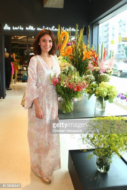 Nadine Warmuth attends the 'Kians Garden Flower Shop' Opening Event at Kantstrasse on July 11 2017 in Berlin Germany