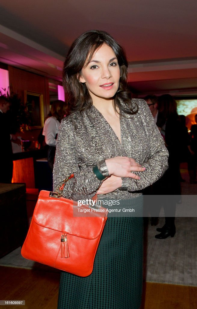 Nadine Warmuth attends the 'Soiree Francaise Du Cinema' at the French embassy on February 12, 2013 in Berlin, Germany.