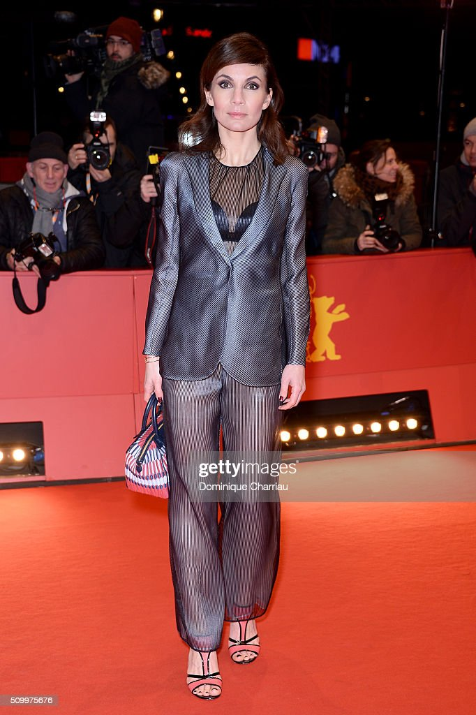 Nadine Warmuth attends the 'Things to Come' (L'avenir) premiere during the 66th Berlinale International Film Festival Berlin at Berlinale Palace on February 13, 2016 in Berlin, Germany.